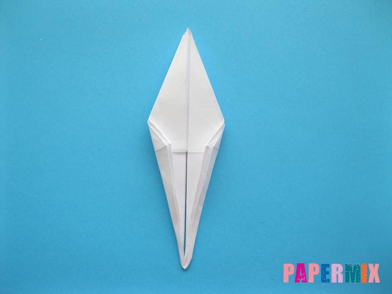 Как сделать цаплю из бумаги (оригами) поэтапно - шаг 11