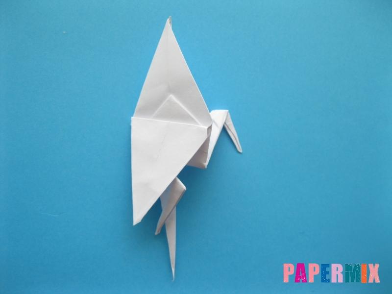 Как сделать цаплю из бумаги (оригами) поэтапно - шаг 16