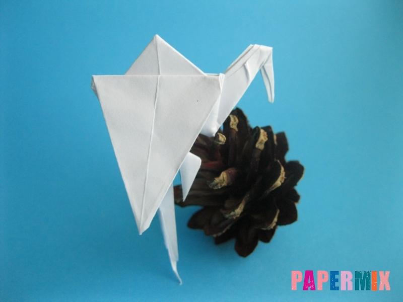 Как сделать цаплю из бумаги (оригами) поэтапно - шаг 17