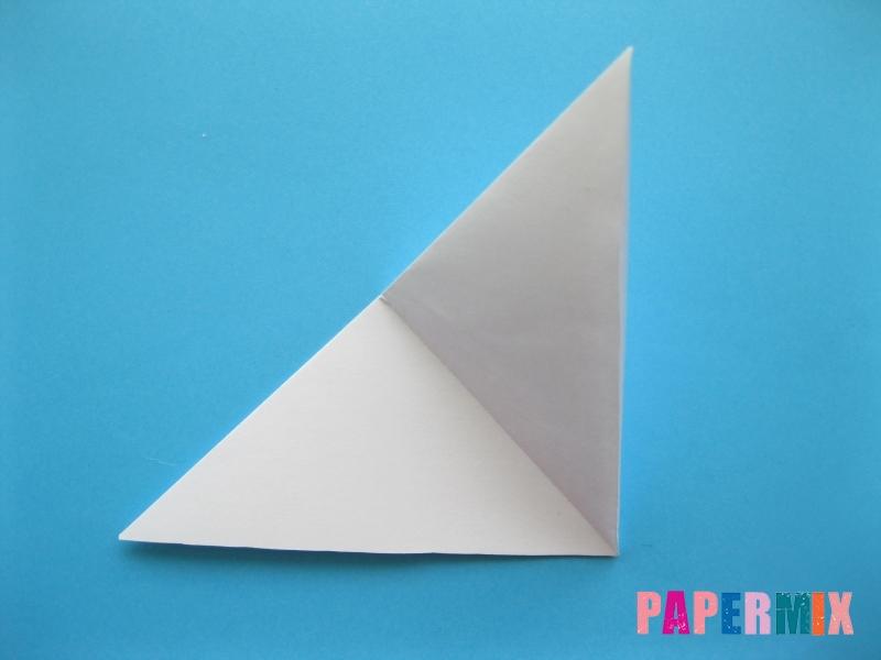 Как сделать цаплю из бумаги (оригами) поэтапно - шаг 2