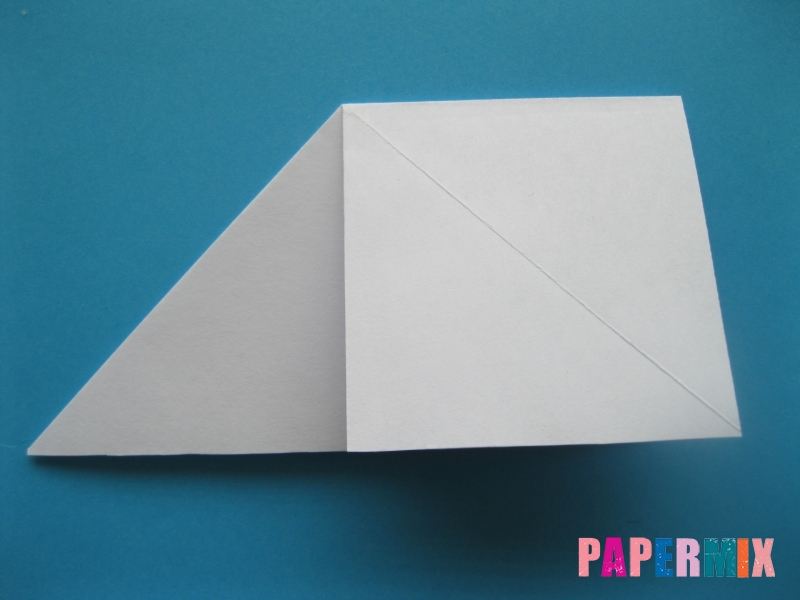 Как сделать цаплю из бумаги (оригами) поэтапно - шаг 4