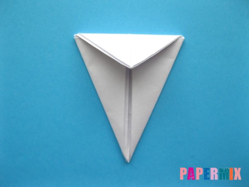 Как сделать цаплю из бумаги (оригами) поэтапно - шаг 7