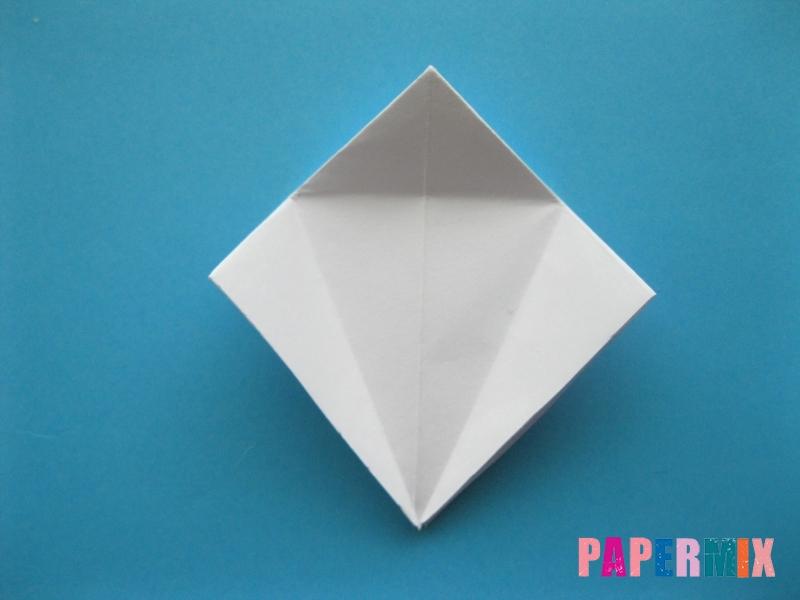 Как сделать цаплю из бумаги (оригами) поэтапно - шаг 8
