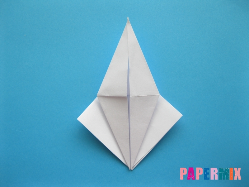Как сделать цаплю из бумаги (оригами) поэтапно - шаг 9