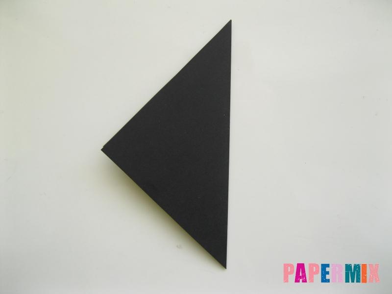 Как сделать черного кота из бумаги поэтапно - шаг 1