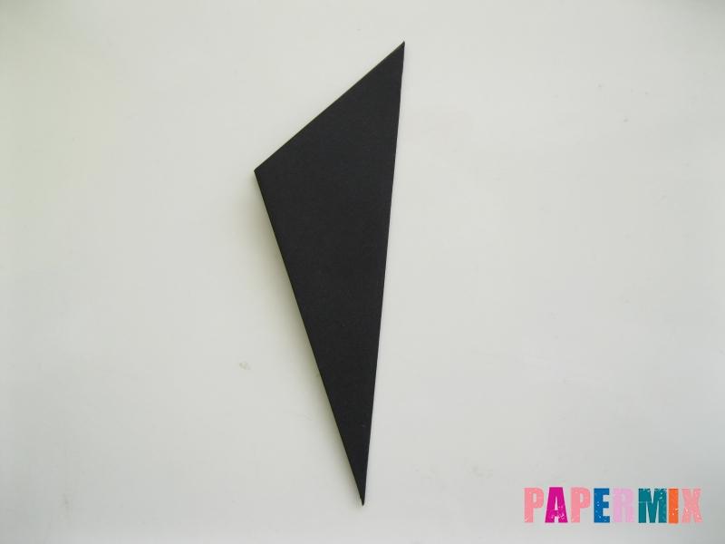 Как сделать черного кота из бумаги поэтапно - шаг 4