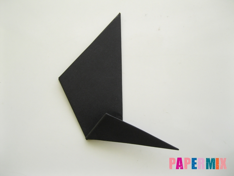 Как сделать черного кота из бумаги поэтапно - шаг 6
