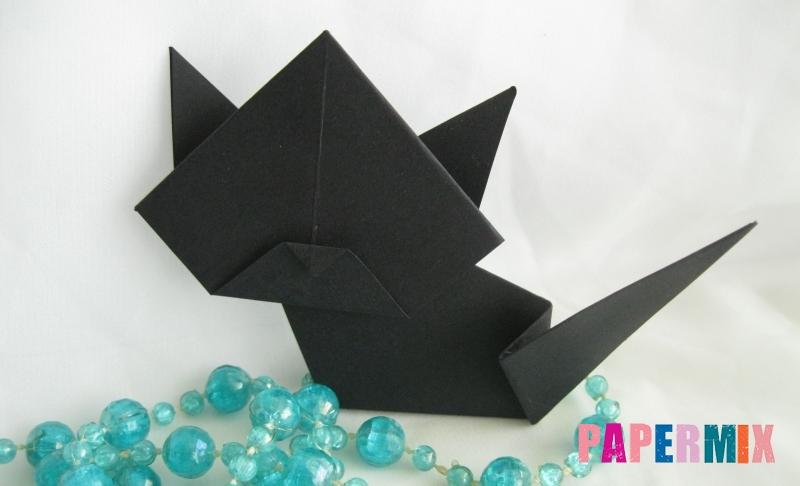 Как сделать черного кота из бумаги своими руками