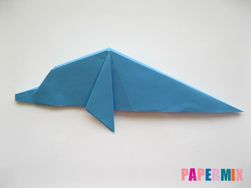 Как сделать дельфина из бумаги поэтапно - шаг 14