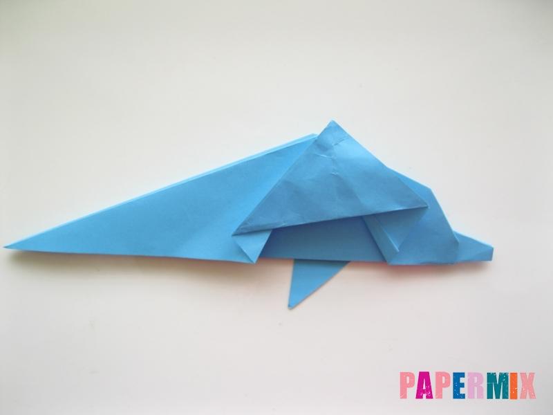 Как сделать дельфина из бумаги поэтапно - шаг 15
