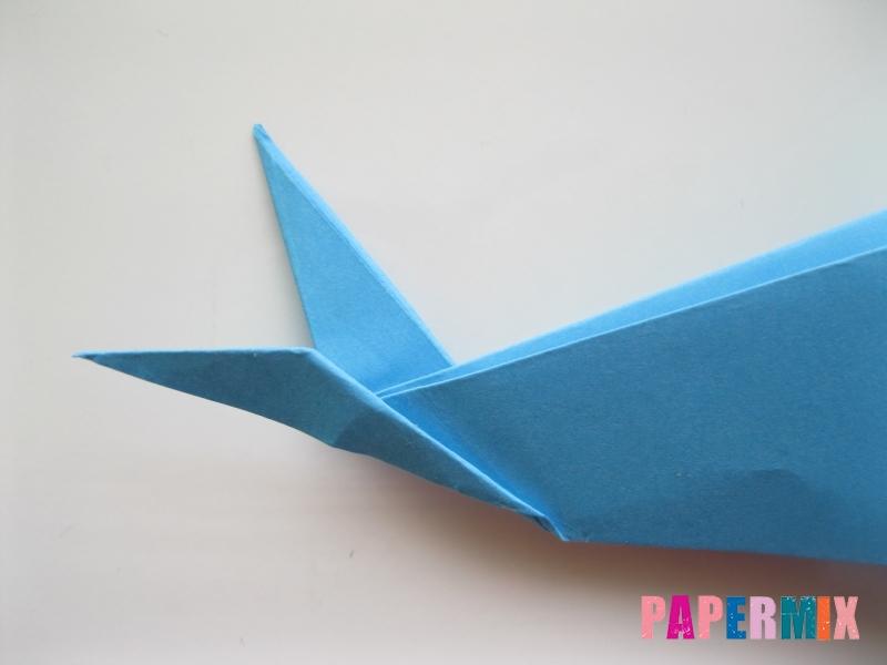 Как сделать дельфина из бумаги поэтапно - шаг 18