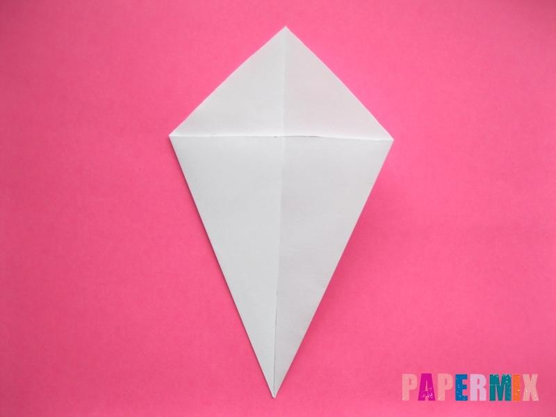 Как сделать голову кошки из бумаги поэтапно - шаг 1