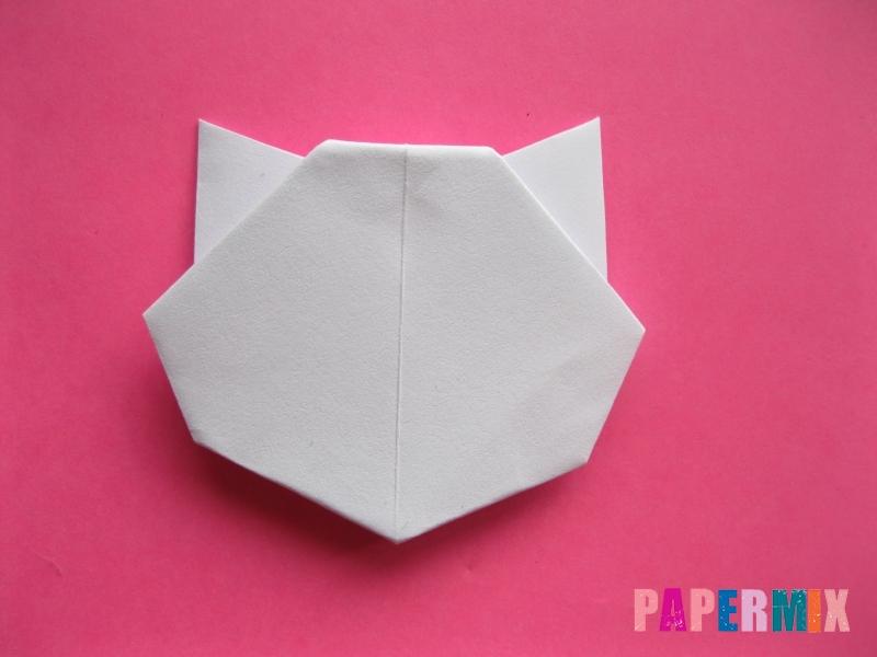 Как сделать голову кошки из бумаги поэтапно - шаг 10