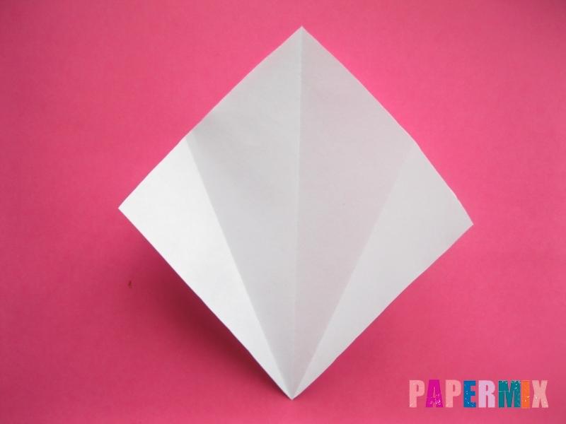 Как сделать голову кошки из бумаги поэтапно - шаг 2