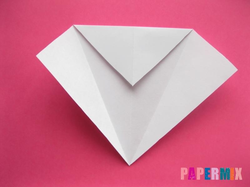 Как сделать голову кошки из бумаги поэтапно - шаг 3
