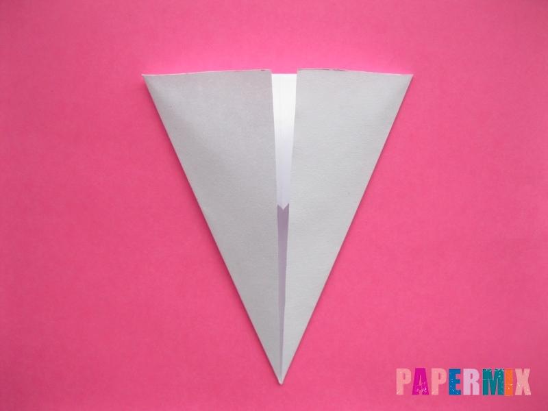 Как сделать голову кошки из бумаги поэтапно - шаг 4