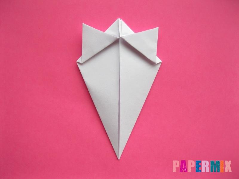Как сделать голову кошки из бумаги поэтапно - шаг 6