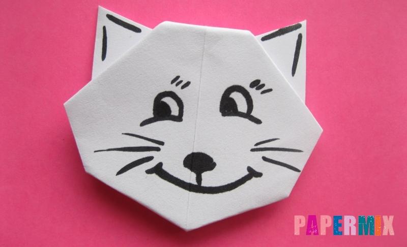 Как сделать голову кошки из бумаги своими руками