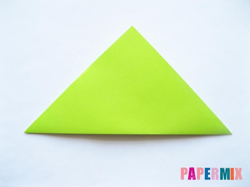 Как сделать голову лягушки из бумаги поэтапно - шаг 1