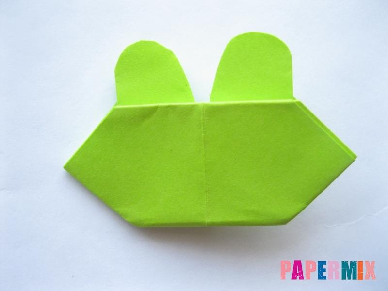 Как сделать голову лягушки из бумаги поэтапно - шаг 10