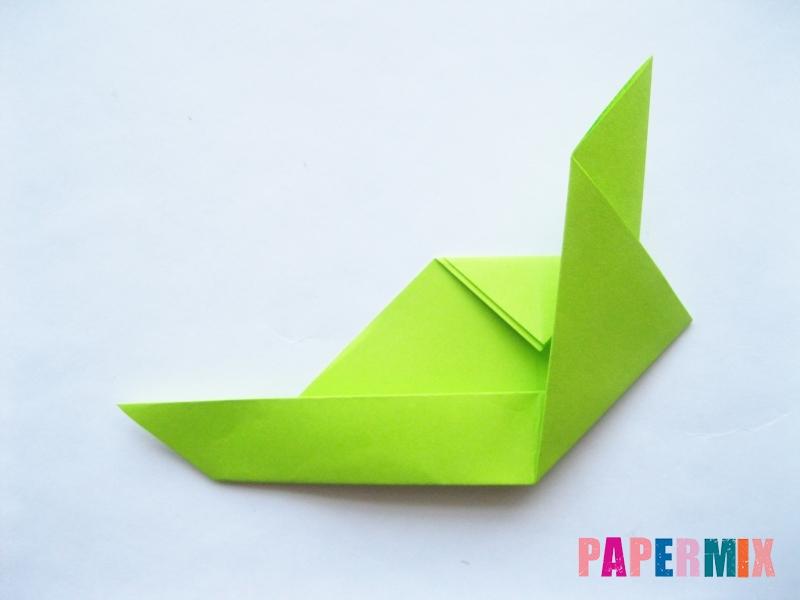 Как сделать голову лягушки из бумаги поэтапно - шаг 6