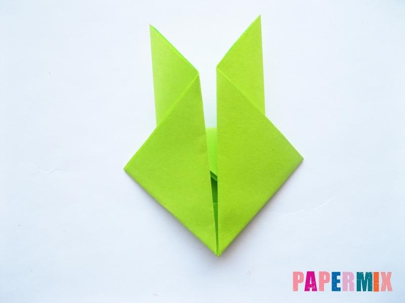 Как сделать голову лягушки из бумаги поэтапно - шаг 7