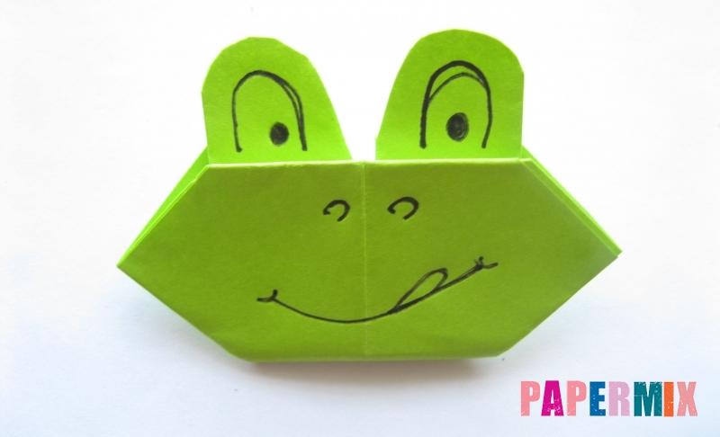 Как сделать голову лягушки из бумаги своими руками поэтапно