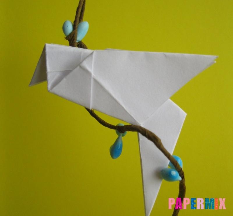Как сделать голубя из бумаги поэтапно - шаг 11