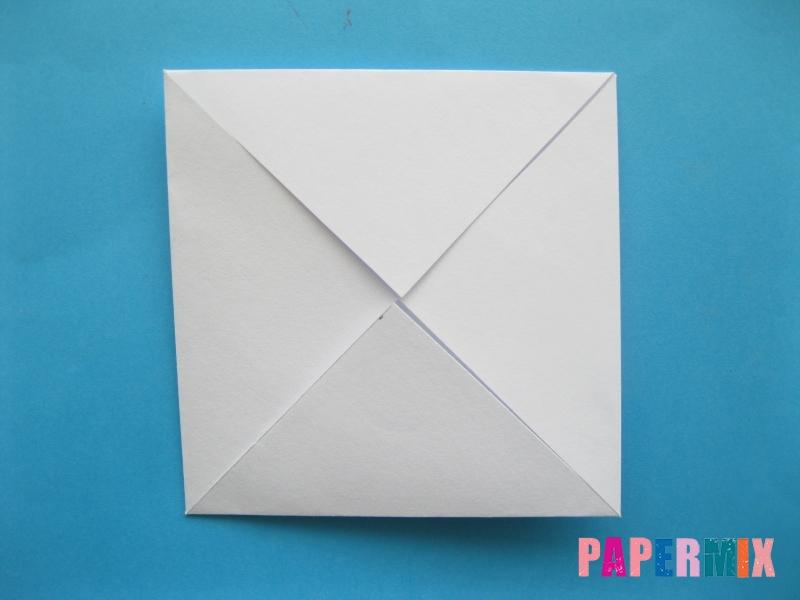 Как сделать голубя из бумаги поэтапно - шаг 2