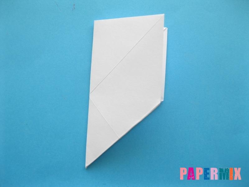 Как сделать голубя из бумаги поэтапно - шаг 4