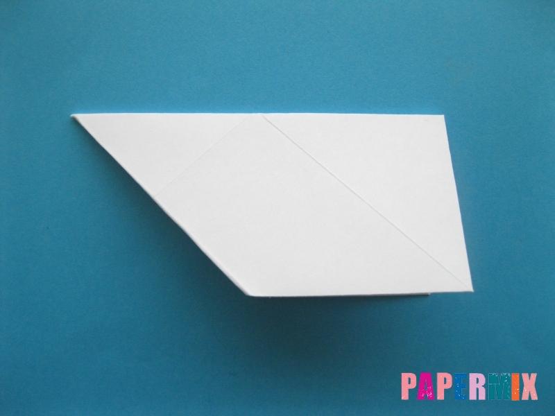 Как сделать голубя из бумаги поэтапно - шаг 5