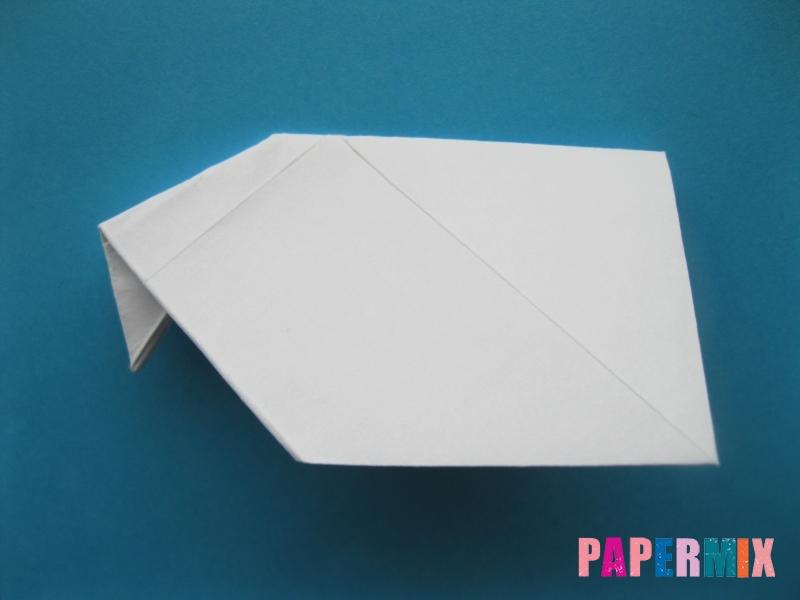 Как сделать голубя из бумаги поэтапно - шаг 6