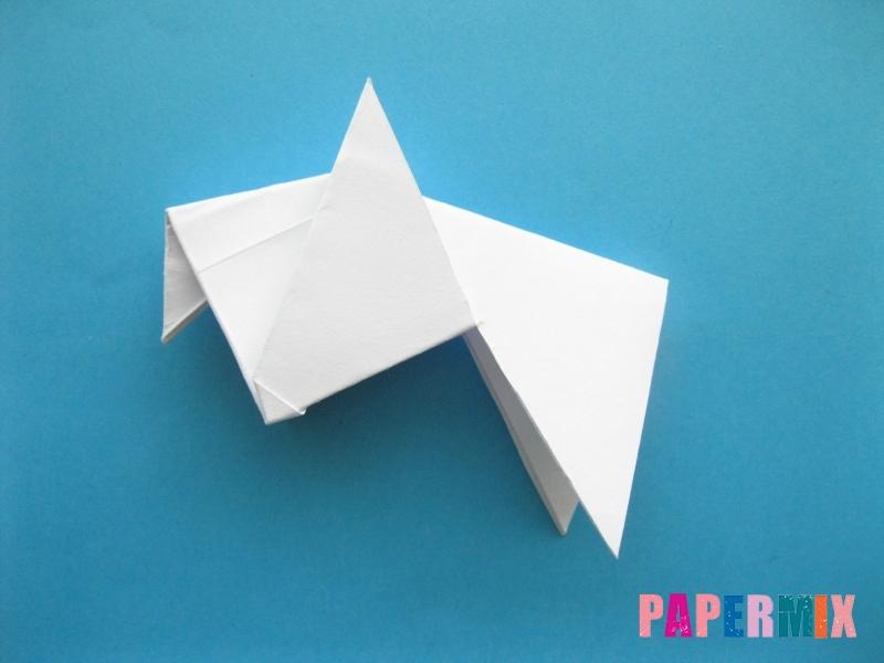 Как сделать голубя из бумаги поэтапно - шаг 8