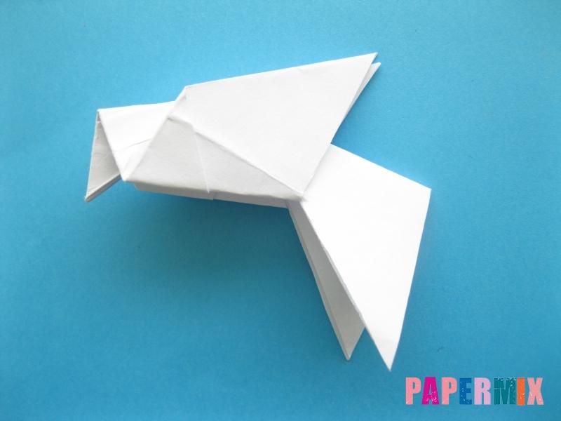 Как сделать голубя из бумаги поэтапно - шаг 9