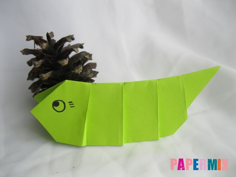 Как сделать гусеницу из бумаги (оригами) инструкция с фото - шаг 11
