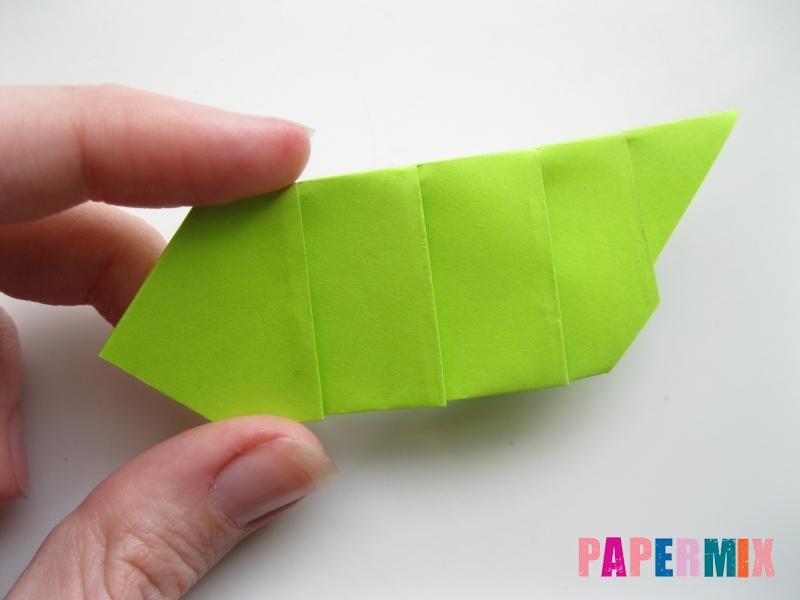 Как сделать гусеницу из бумаги (оригами) инструкция с фото - шаг 8
