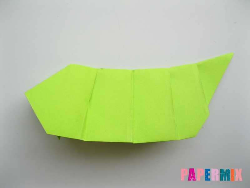 Как сделать гусеницу из бумаги (оригами) инструкция с фото - шаг 9