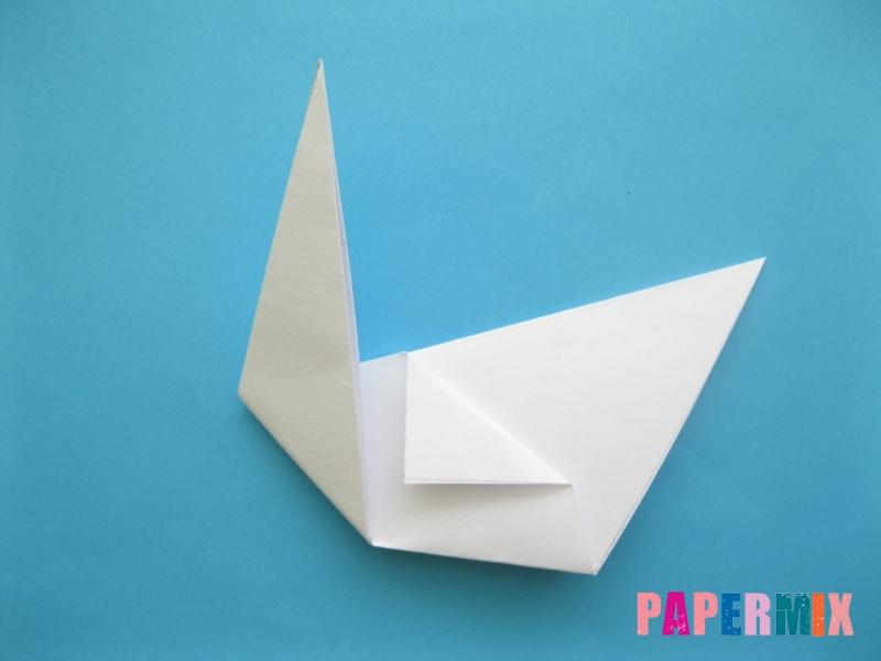 Как сделать из бумаги лебедя пошаговая инструкция - шаг 7