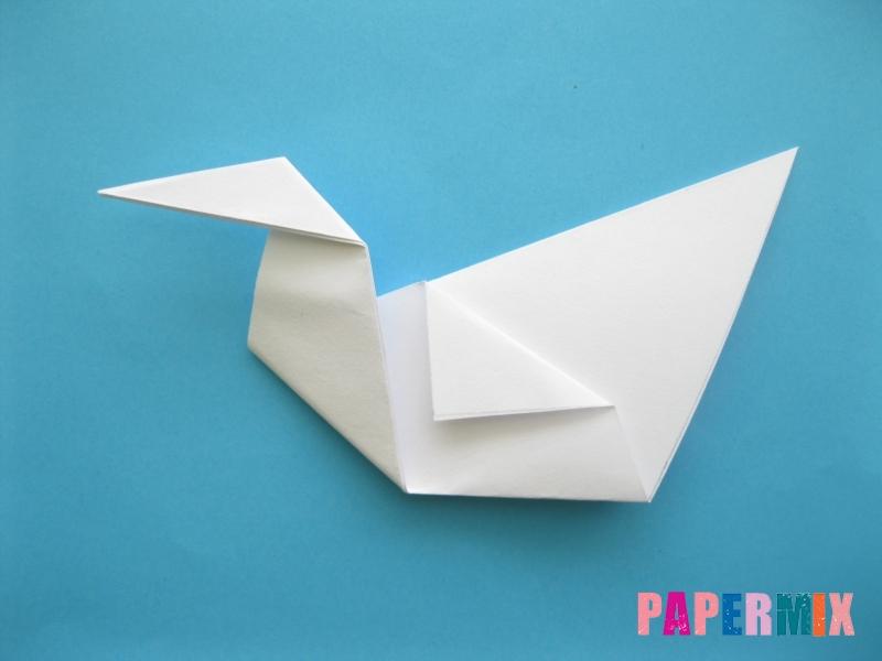 Как сделать из бумаги лебедя пошаговая инструкция - шаг 8