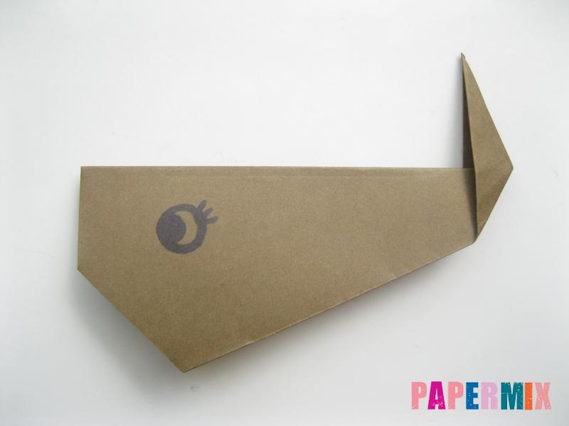Как сделать кита из бумаги (оригами) инструкция с фото - шаг 9