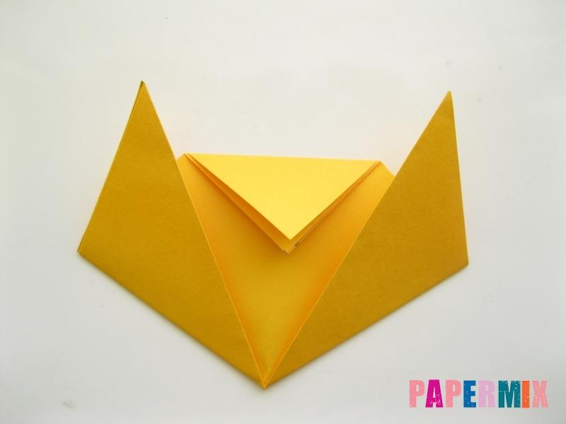 Как сделать котенка из бумаги поэтапно - шаг 6