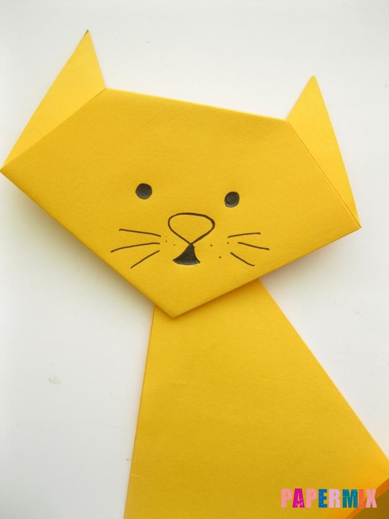 Как сделать котенка из бумаги поэтапно - шаг 9