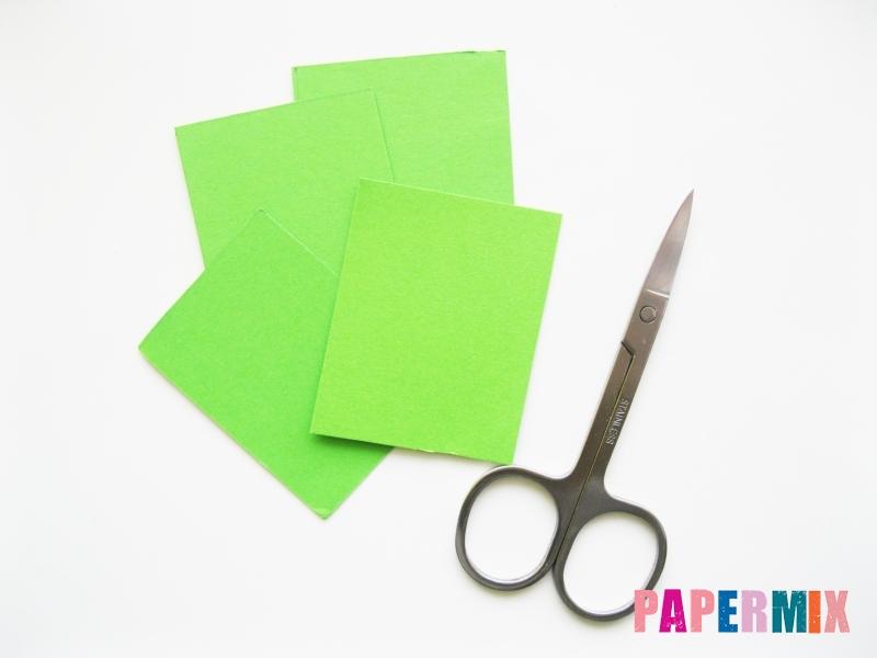 Как сделать крокодила из цветной бумаги своими руками - шаг 1