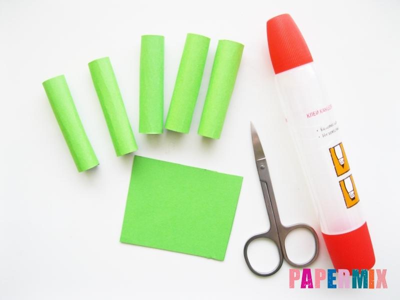 Как сделать крокодила из цветной бумаги своими руками - шаг 3