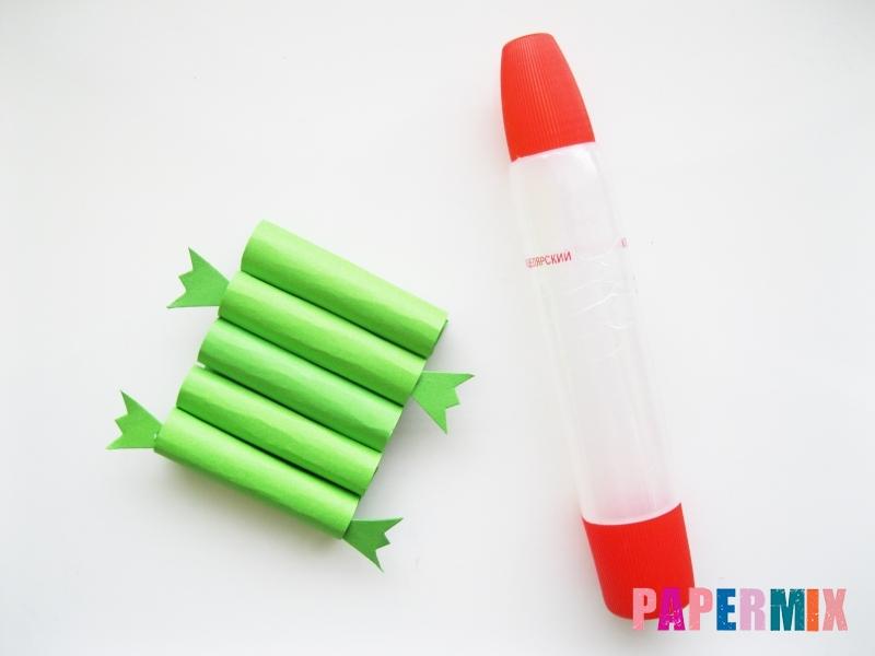 Как сделать крокодила из цветной бумаги своими руками - шаг 6