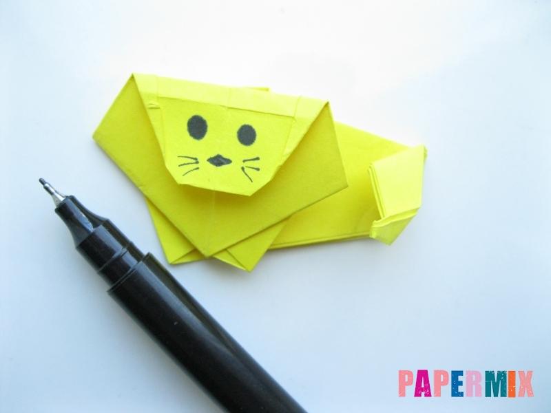 Как сделать льва из бумаги (оригами) своими руками - шаг 14