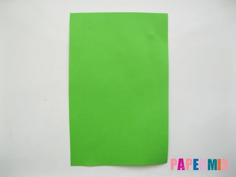 Как сделать лягушку из бумаги пошаговая инструкция - шаг 1