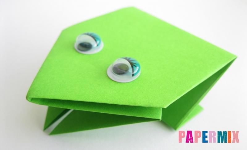 Как сделать лягушку из бумаги в технике оригами своими руками поэтапно