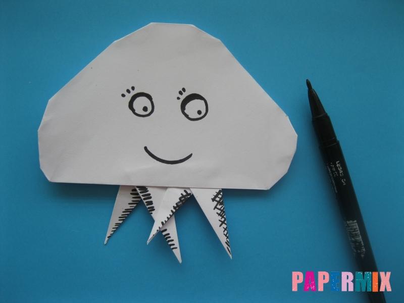 Как сделать медузу из бумаги поэтапный фото урок - шаг 11