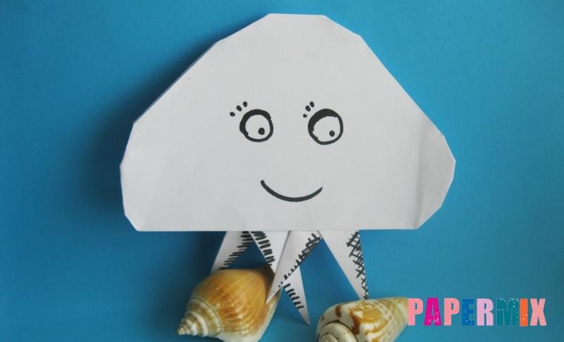 Как сделать медузу из бумаги в технике оригами своими руками